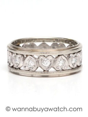 1940's Wide Diamond Band