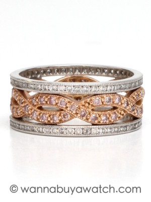 Platinum & Pink Gold with Pink Diamonds