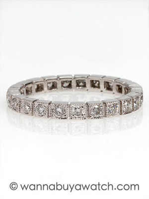 Art Deco Box Style Eternity Band