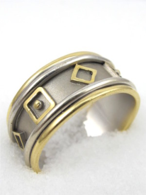 18K Yellow/White Gold Band
