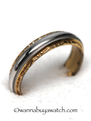 Platinum & 18K YG Wedding Band