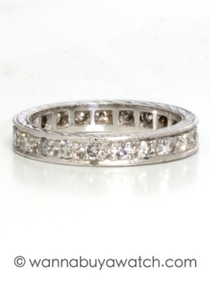Vintage 14K WG Diamond Eternity