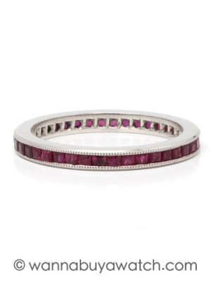 Platinum & Ruby Eternity Band