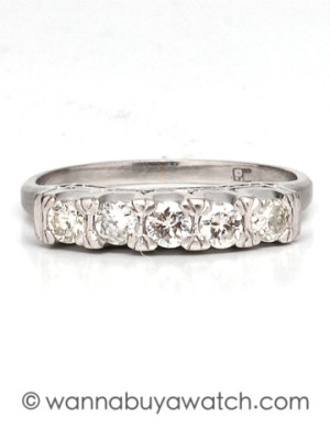 1950's Platinum Diamond Band
