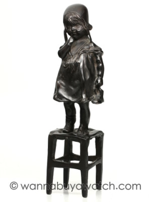 Bronze Sulpture of Charming Little Girl