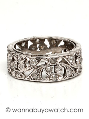 Platinum Diamond Wide Band