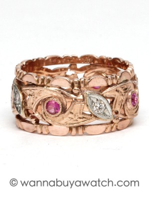 Pink Gold with Rubies & Diamonds