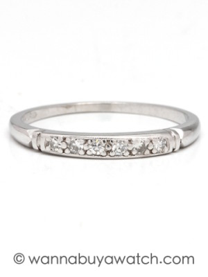 Platinum 6 Diamond Band