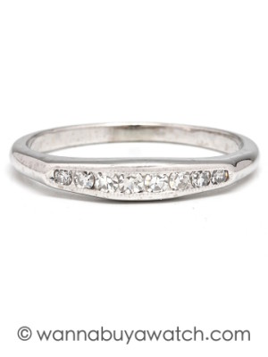 18K WG Diamond Band