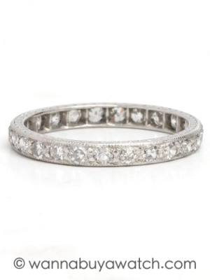 Antique 18K WG Eternity Band