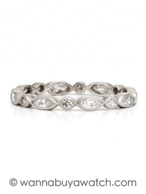 Platinum & Diamond Eternity Band