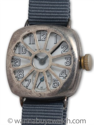 Waltham Silver WW1 Flak Watch circa 1920