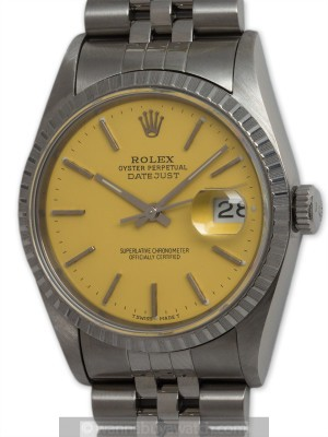 "Rolex SS Datejust circa 1993 ""Buttered Popcorn"""