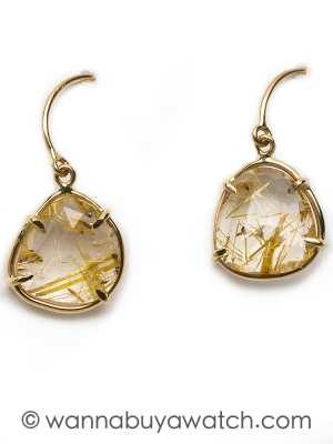 14K YG & Rutilated Quartz