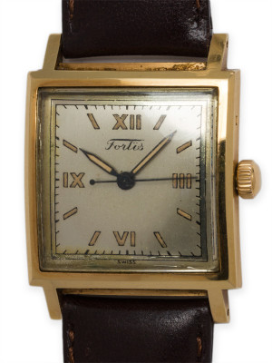 Fortis 14K YG Automatic Water Resistant circa 1940's