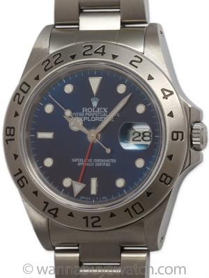 "Rolex SS Explorer II ref 16570 circa 1997 ""Sapphire Blue"""