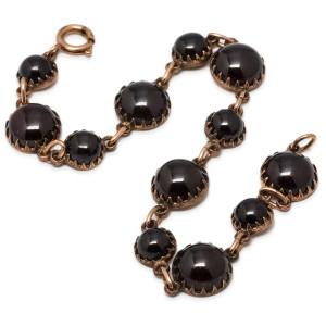 Antique PGF Garnet Bracelet