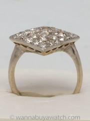 Old European Cut Diamond Cocktail Ring