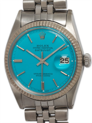 "Rolex SS Datejust ref 1601 circa 1964 ""Turquoise"""