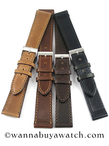 224776624 Shell Cordovan Horween Stitched Watch Straps Bands