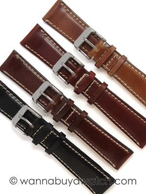 Shell Cordovan Watch Straps – Matching Stitching 20mm