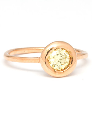 14k Pink Gold & Yellow Diamond by Liza S.