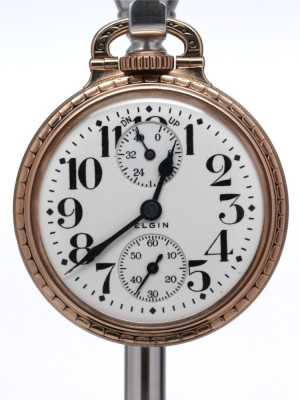 "Elgin Railroad Pocket Watch with Up-Down ""Power Reserve""  circa 1928"