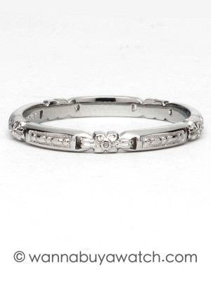 1930's 18K White Gold Band
