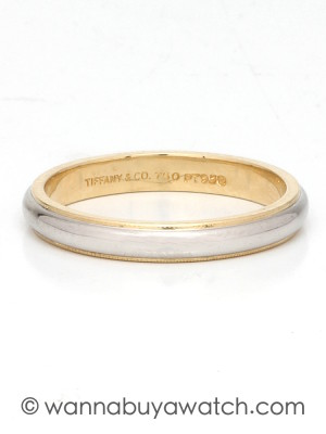 Tiffany & Co. Platinum & 18k Yellow Gold Band