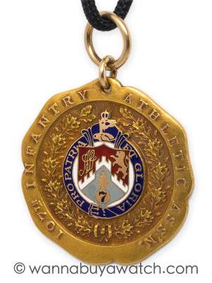 Gold Athletic Award NY National Guard circa 1932