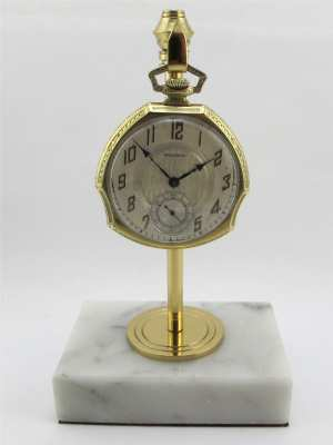 Hand Made Marble Pocket Watch Stand Art Deco Style