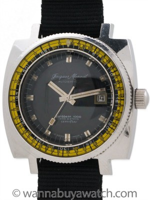 Jacques Monnat Carribean 1000 Swiss Diver's circa 1970