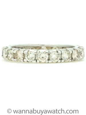 Prong Set 14K WG Eternity Band