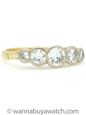 Antique 5 Stone Diamond Ring
