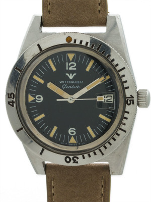 Wittnauer Diver's Stainless Steel circa 1960's