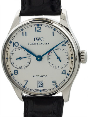 IWC SS Portuguese Power Reserve ref 5001-07 Automatic