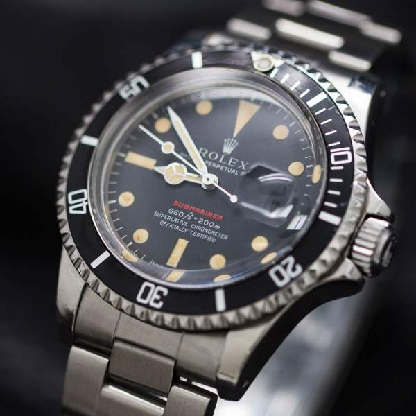 Rolex ref 1680 RED Submariner circa 1973 Great Patina!