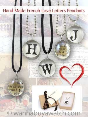 Hand Made French Love Letters Pendants