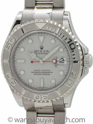 Rolex Man's Platinum Yachtmaster ref 16622 Box & Papers circa 2002