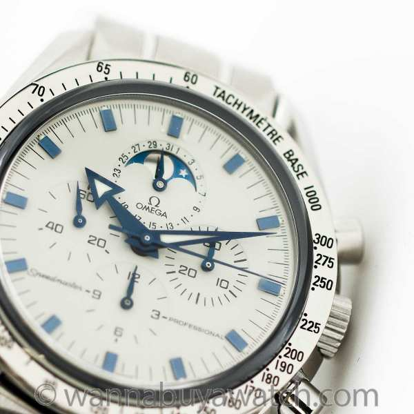 Omega SS Speedmaster Man on the Moon with Moon Phase ref 3575.20
