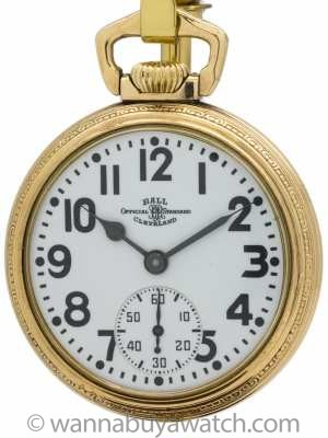 Hamilton Ball Railroad Pocket Watch circa 1930s