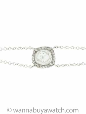 14K WG Diamond Slice Bracelet