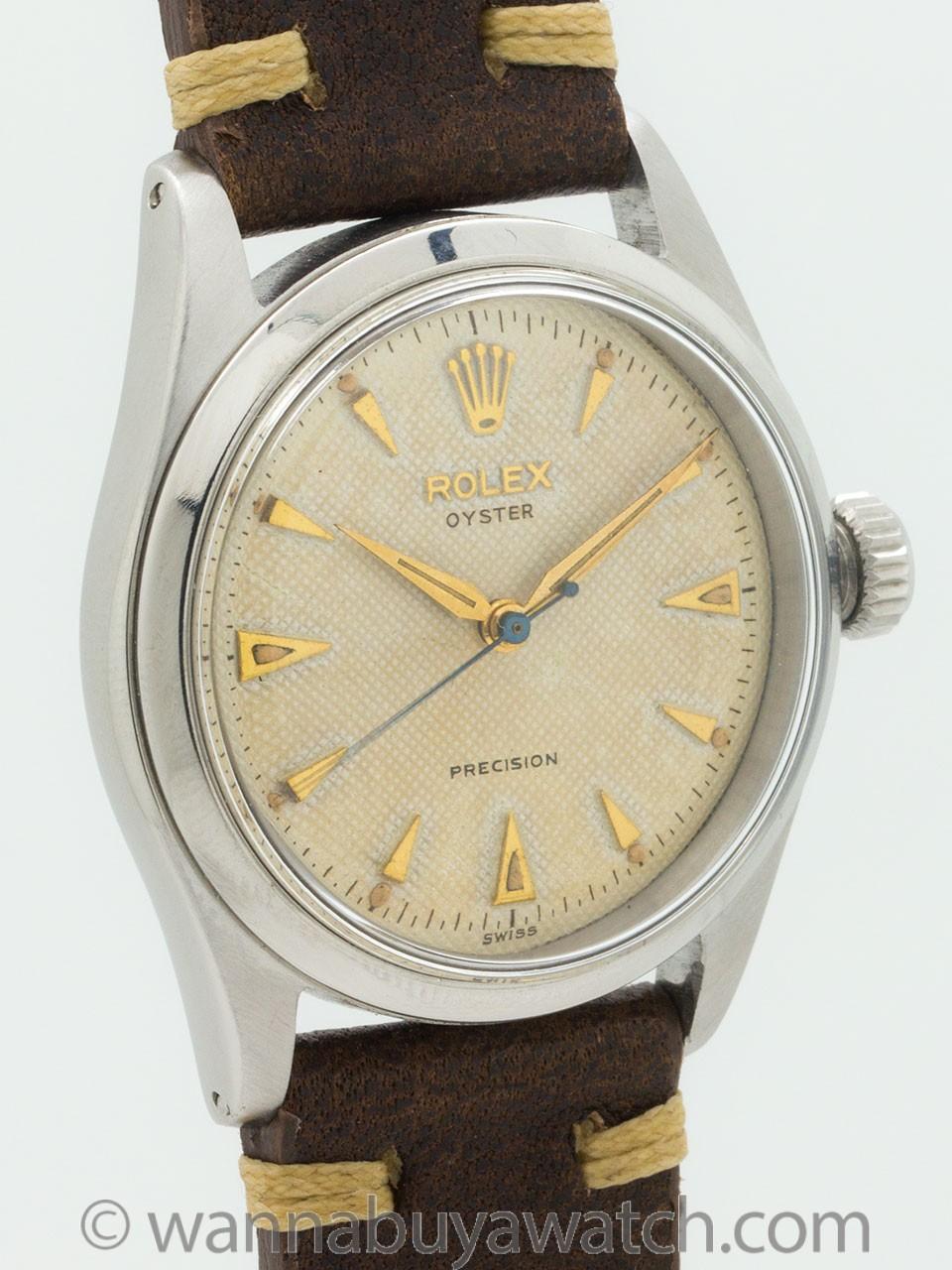 rolex oyster precision ref 6282 original waffle dial circa 1955 wanna buy a watch. Black Bedroom Furniture Sets. Home Design Ideas