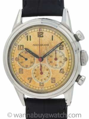 Movado Chronograph Waterproof Design circa 1950's