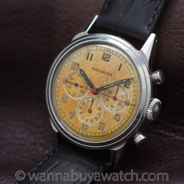 Movado Chronograph Waterproof Design circa 1950's - 46387