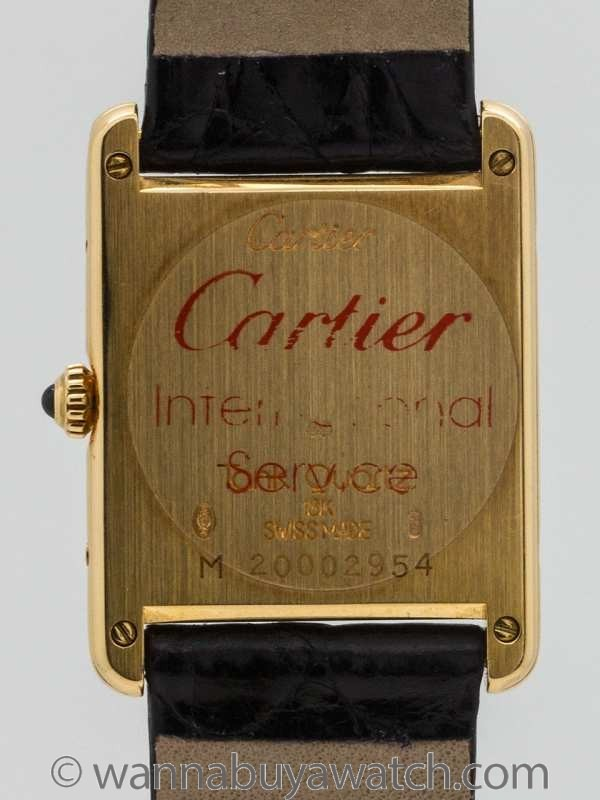 Cartier Tank Louis 18K YG Man's circa 1990's - 46418back