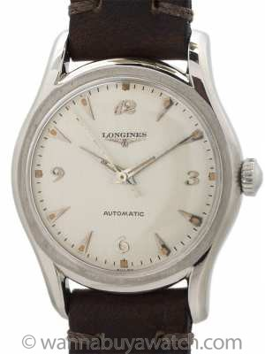 Longines Automatic Stainless Steel circa 1958