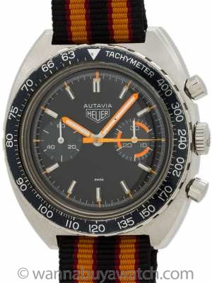 "Heuer Autavia ref 73363 ""Orange Boy"" circa 1970's"