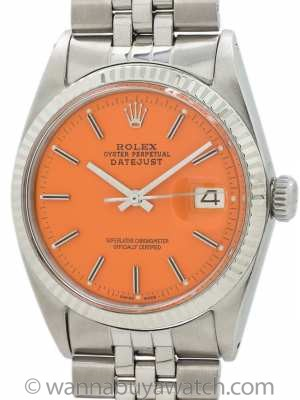 "Rolex Datejust ref  1601 Stainless Steel ""Orange Sherbert"" circa 1968"