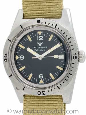 Wittnauer Geneva Diver's Stainless Steel circa 1970